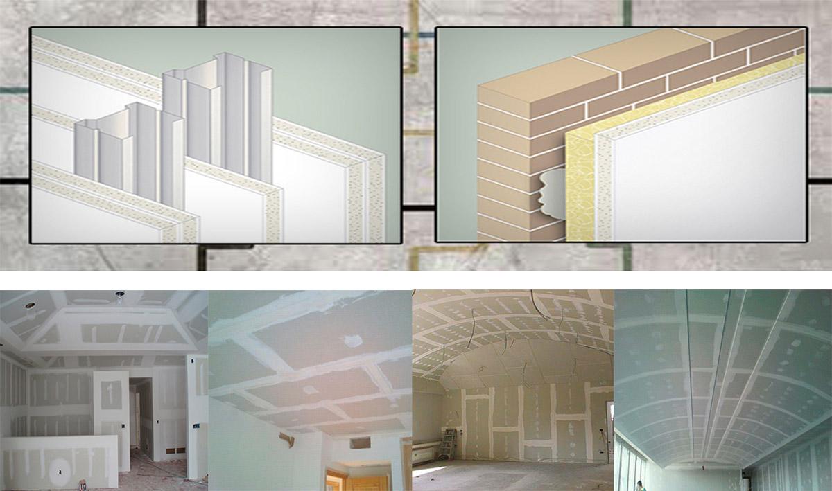 Interior division plasterboard - Como colocar pladur en techo ...